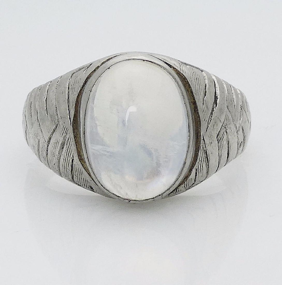 Tiffany & Co Vintage Platinum Labradorite Ring Size 11