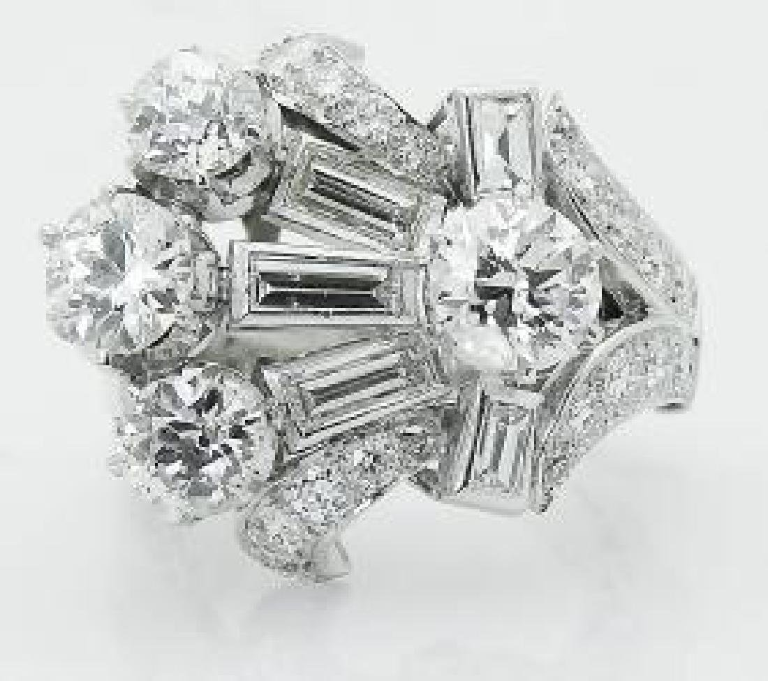 Cartier Estate PT 950 Over 4.00 TCW Diamond Ring
