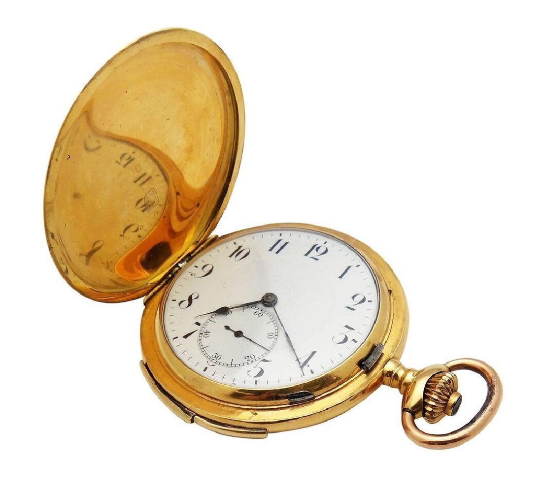 Estate 18K Gold Quarter Repeater Mechanic Pocket Watch