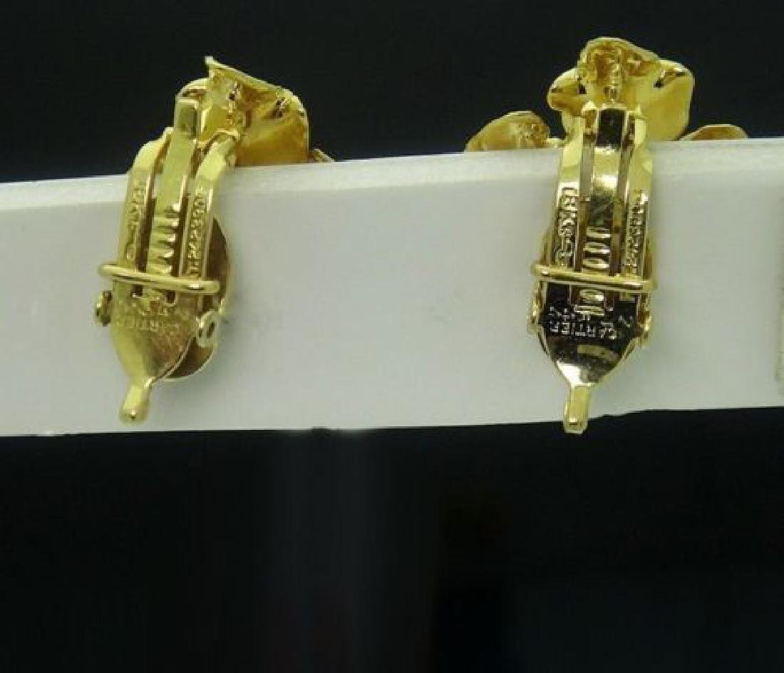 Estate 1960s Cartier 18k Yellow Gold Clip-On Earrings - 5