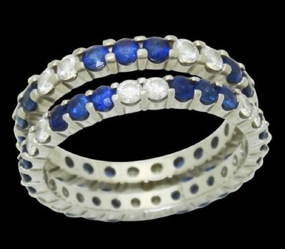 W.R.DES 18k White Gold Apx. 1.20 TCW Diamond Ring