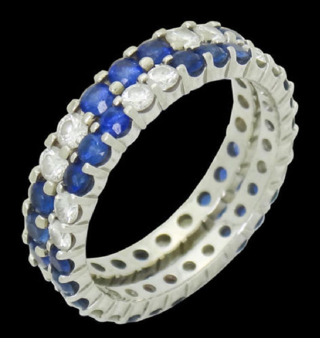 W.R.DES 18k White Gold Apx. 1.20 TCW Diamond Ring - 3