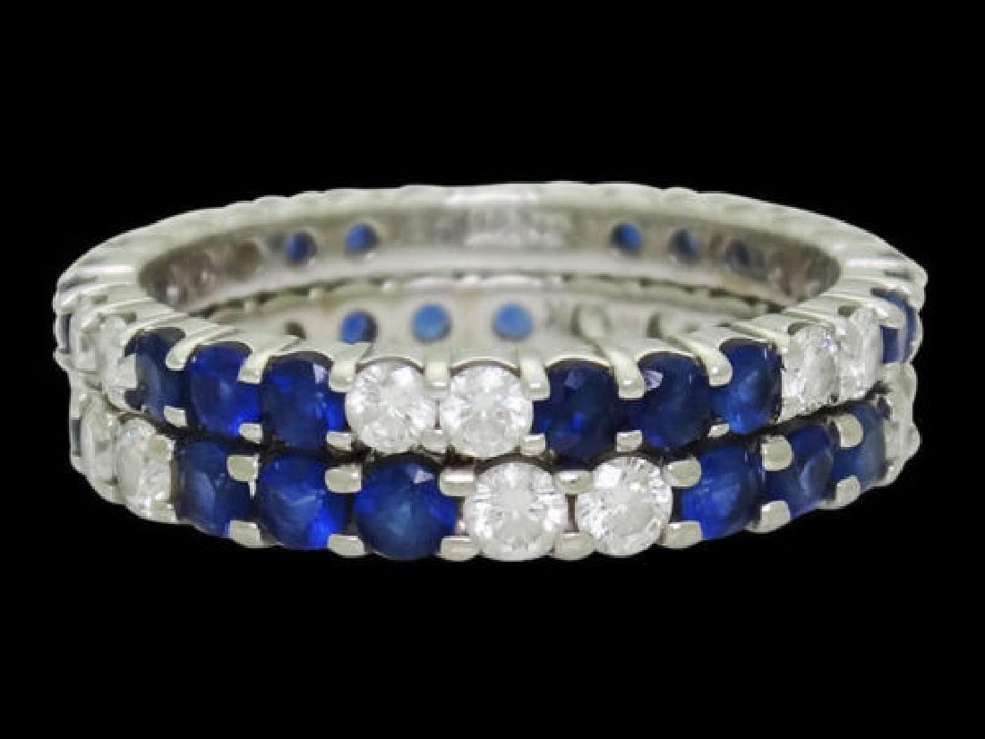 W.R.DES 18k White Gold Apx. 1.20 TCW Diamond Ring - 4