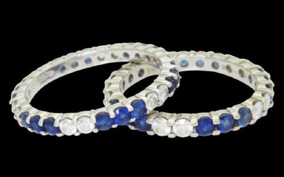W.R.DES 18k White Gold Apx. 1.20 TCW Diamond Ring - 5