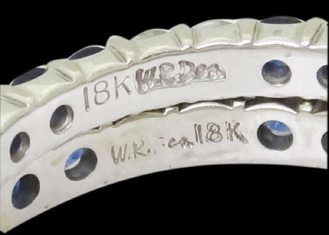 W.R.DES 18k White Gold Apx. 1.20 TCW Diamond Ring - 6