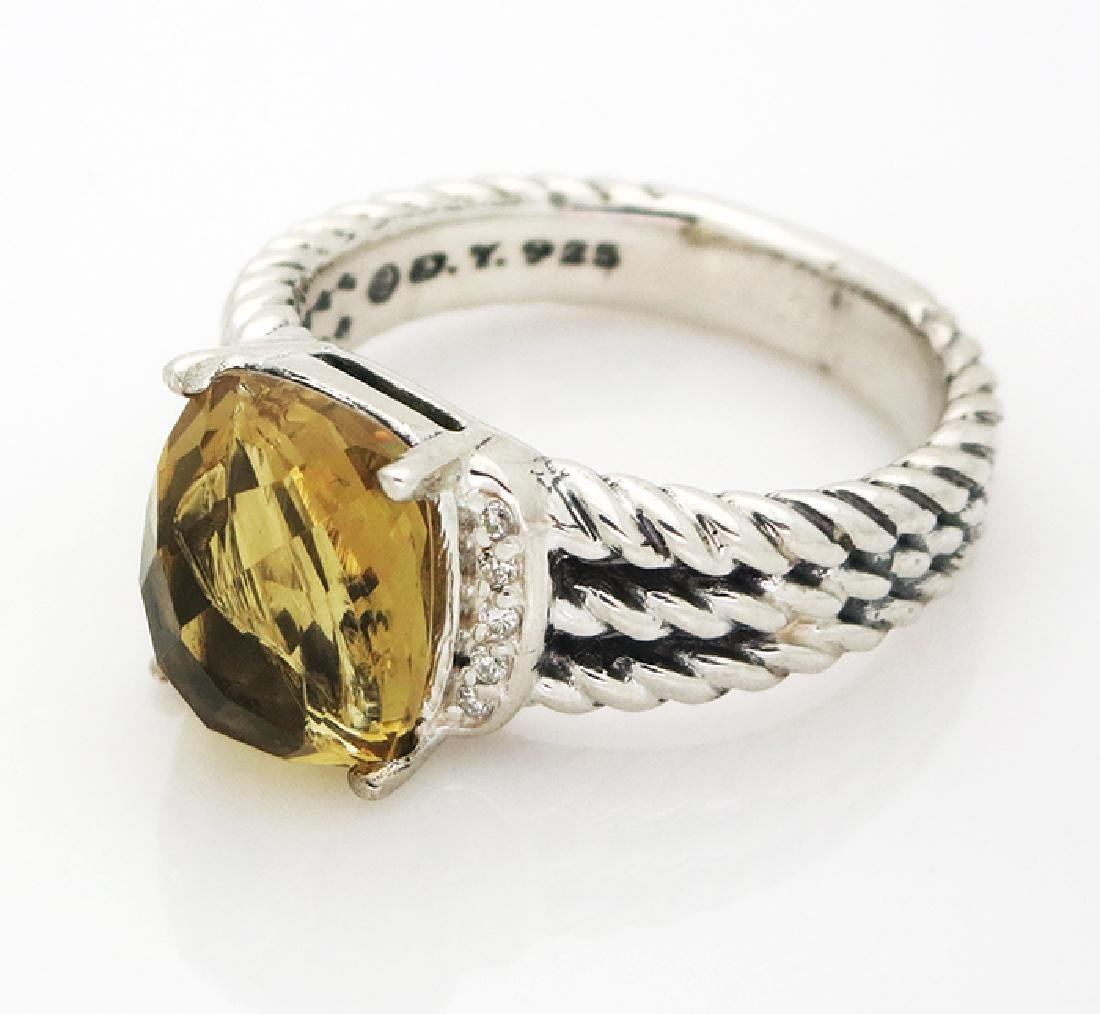 David Yurman Petite Wheaton Ring Citrine & Diamonds