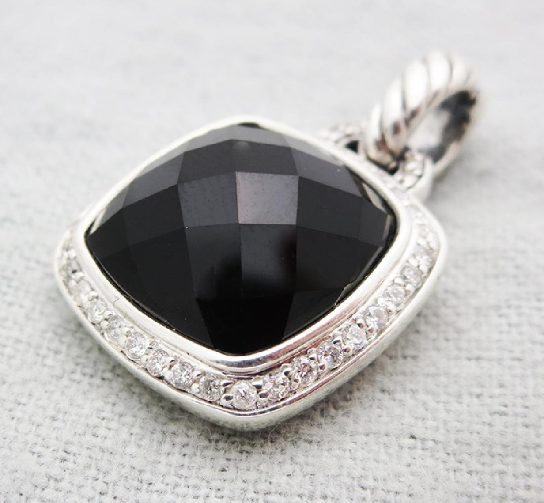 David Yurman Sterling Silver Pendant with Black Onyx
