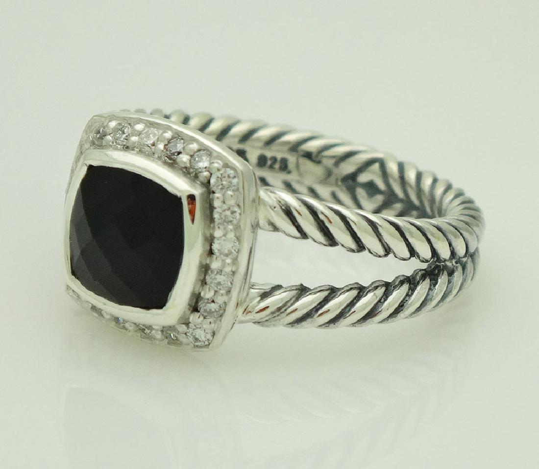 David Yurman Sterling Silver Petite Albion Black Onyx