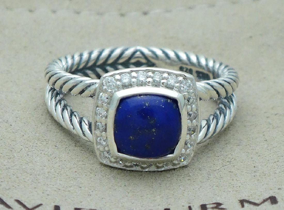 David Yurman Sterling Silver Petite Albion Lapis Lazuli