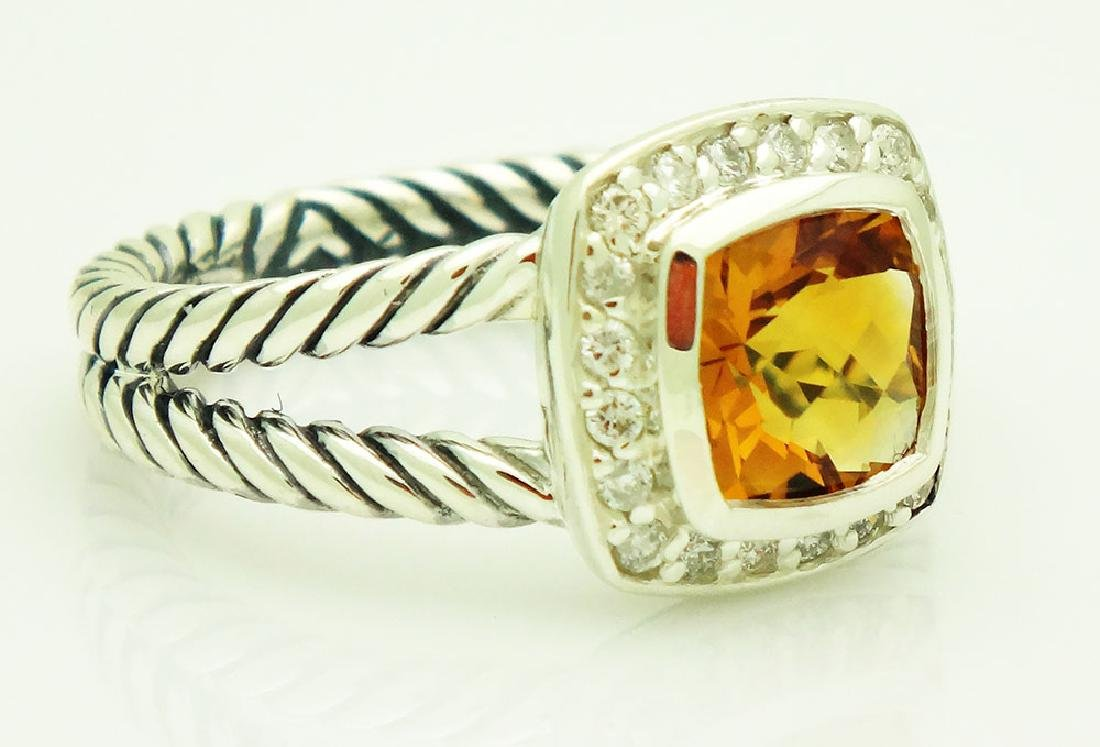 David Yurman Sterling Silver Petite Albion Citrine Ring