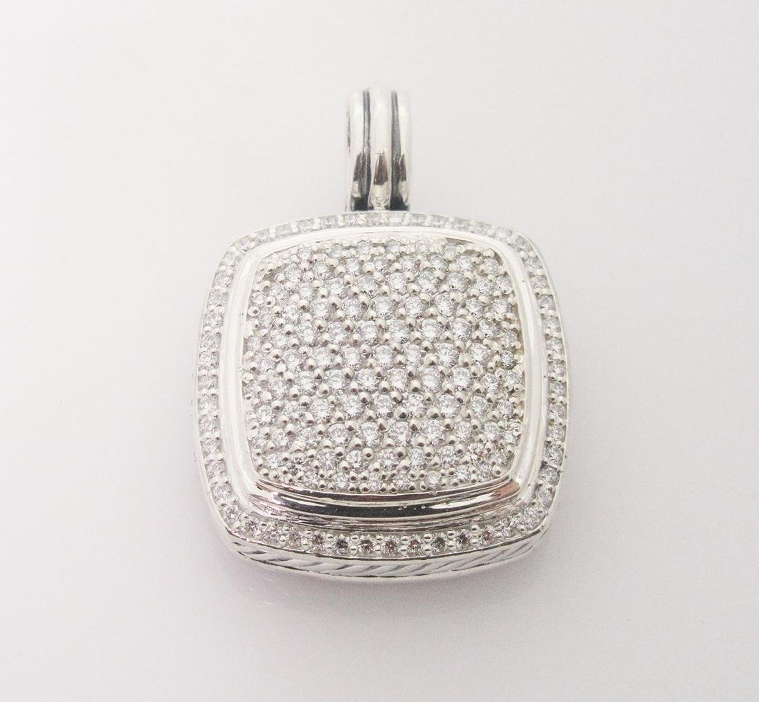 DAVID YURMAN 925 Sterling  w/Diamond Albion Pendant