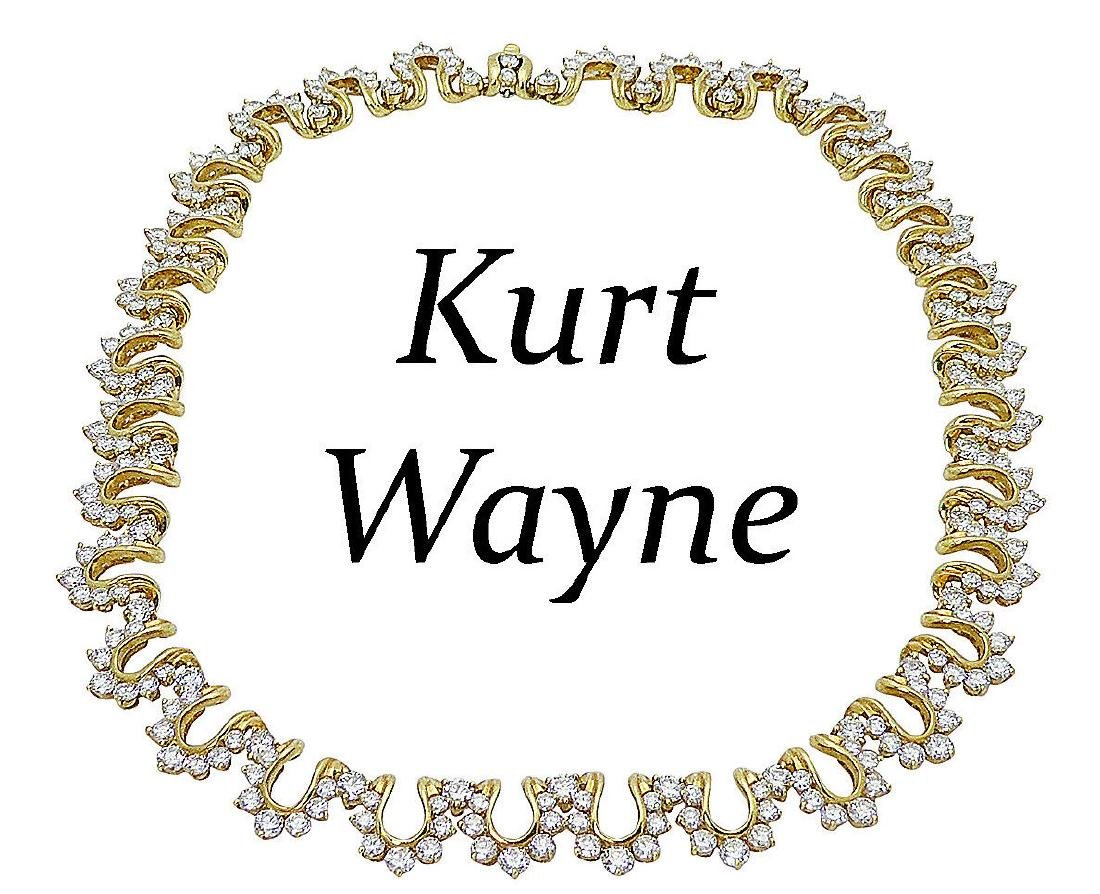 18k Yellow Gold 36.6 CT Round Brilliant Diamond Collar