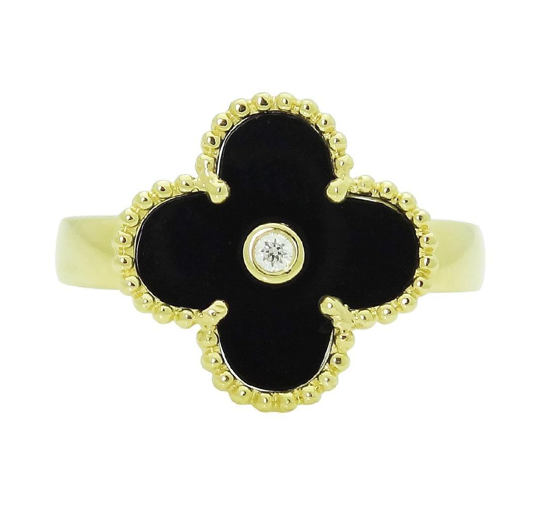 Van Cleef & Arpels 18k Gold Vintage Magic Alhambra Ring