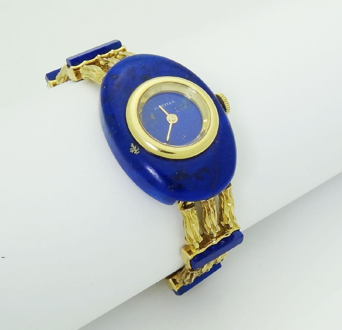 Cartier Rare 18k Yellow Gold Lapis Lazuli Bracelet