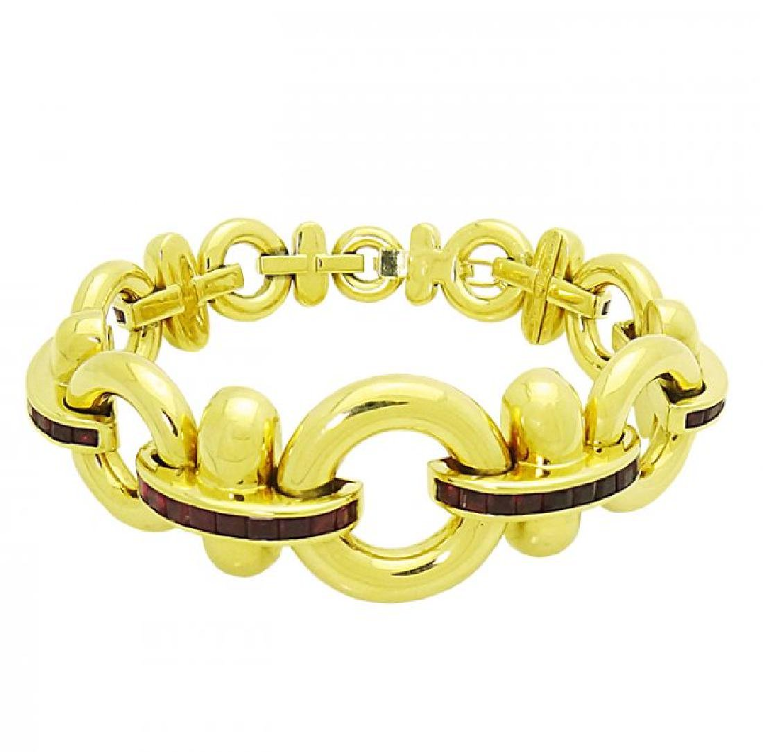 Retro Tiffany & Co. 18K Yellow Gold Ruby bracelet