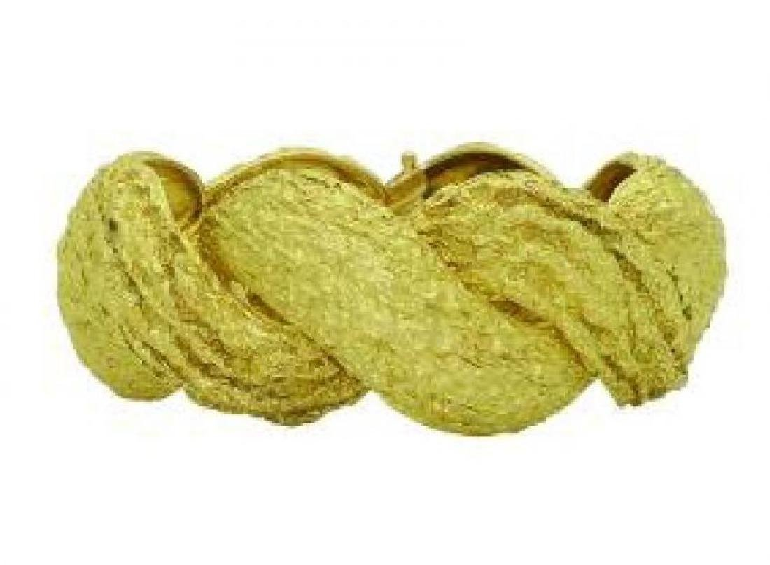 Estate Cartier 18k Yellow Gold Wide Bracelet