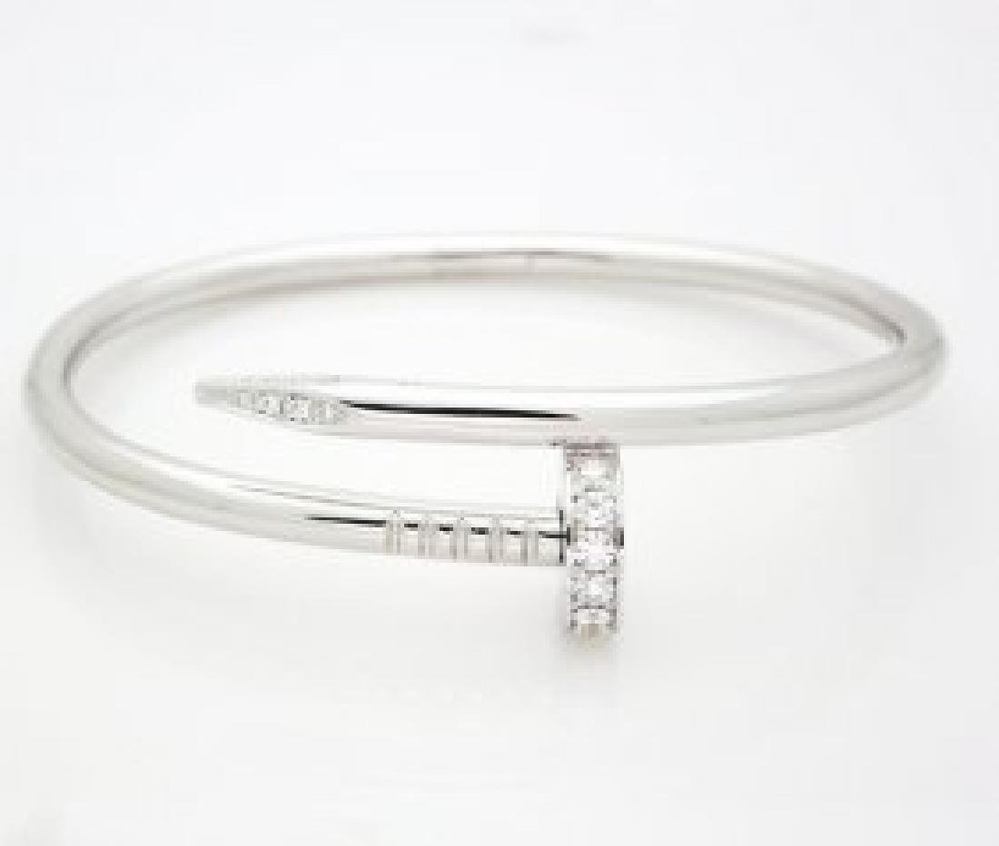 Cartier White Gold Nail Bracelet
