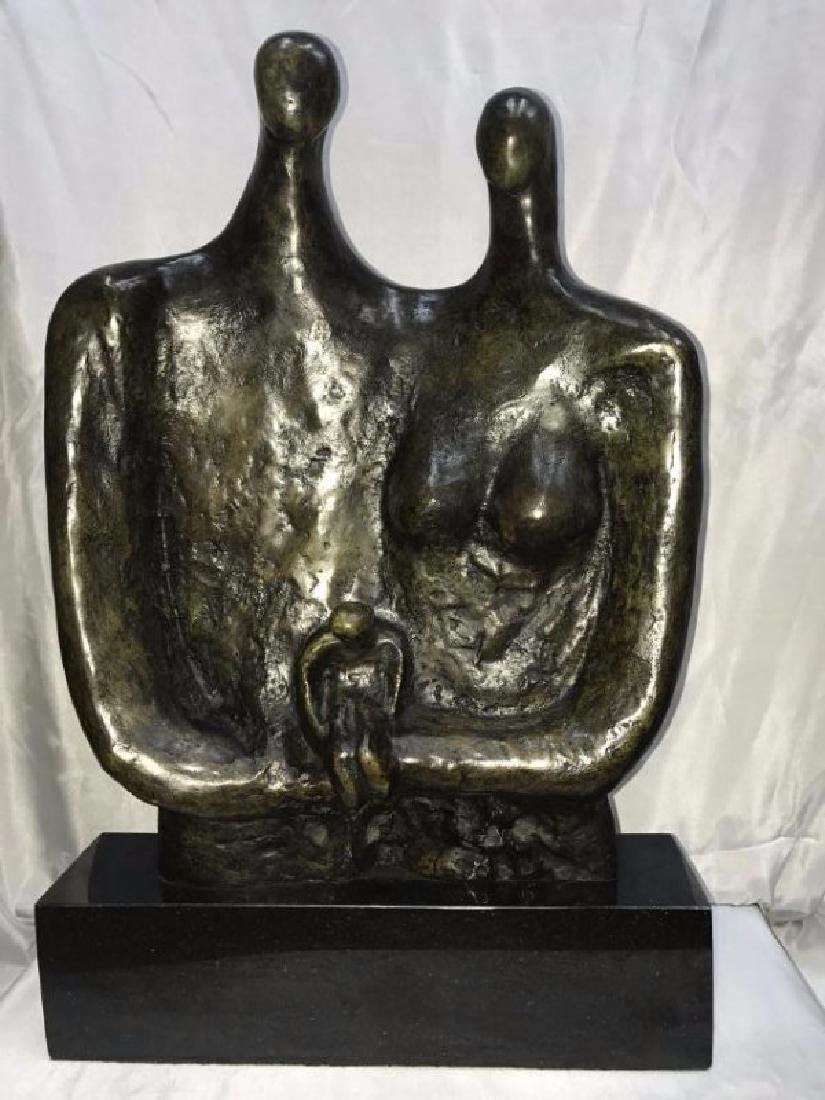 ENGLISH BRONZE SCULPTURE HENRY MOORE