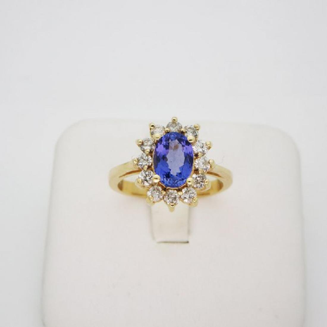 14K YELLOW GOLD & DIAMOND RING SIZE 6.5
