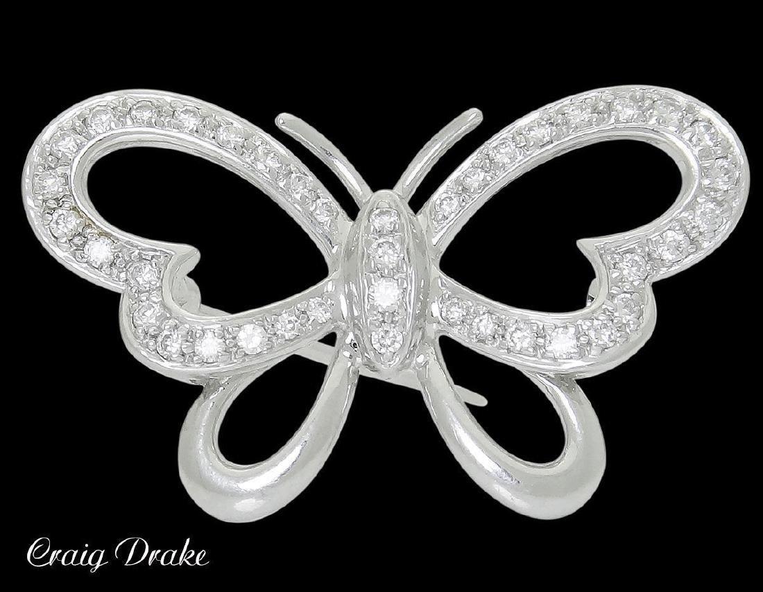 Craig Drake 18k & 0.50 VS G-H Diamond Butterfly Pin