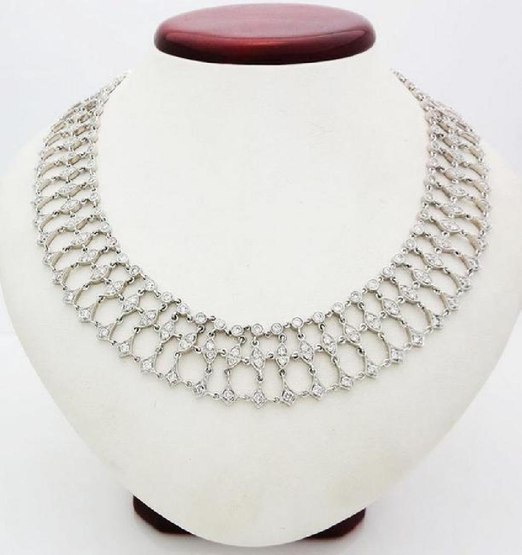 8Ct t.w. Diamond necklace, length of this item is 14â€
