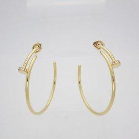 Cartier Juste un Clou 18K Gold & Diamonds Earrings