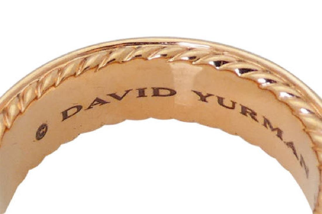 David Yurman 18K Two-Row Cognac Diamond Ring 7mm - 3