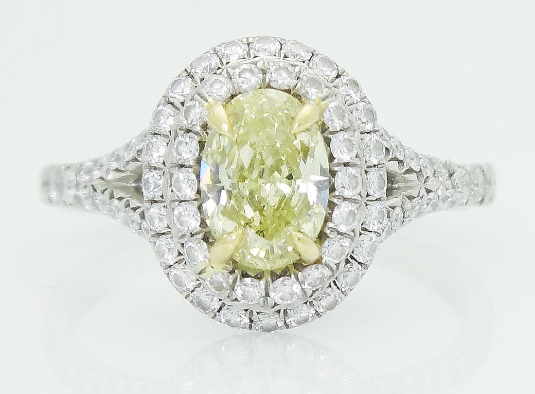 Tiffany & Co Soleste Plat 950 & 18k Yellow Diamond Ring