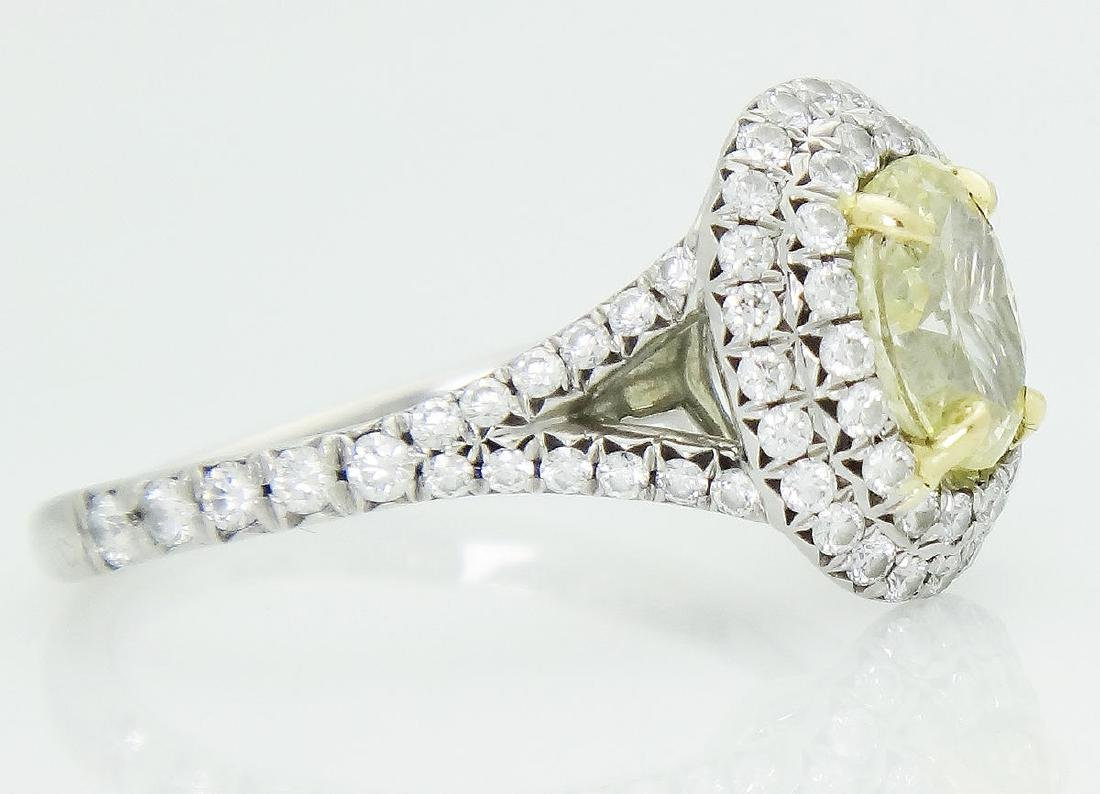 Tiffany & Co Soleste Plat 950 & 18k Yellow Diamond Ring - 2