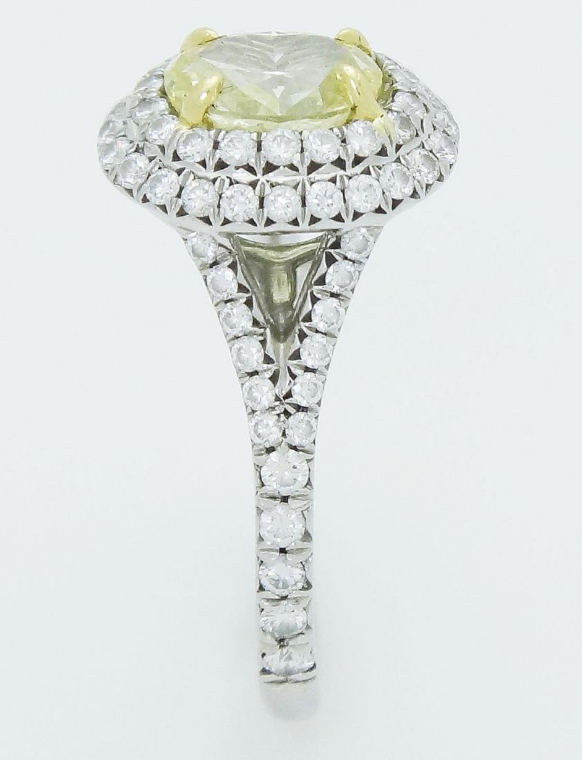 Tiffany & Co Soleste Plat 950 & 18k Yellow Diamond Ring - 4