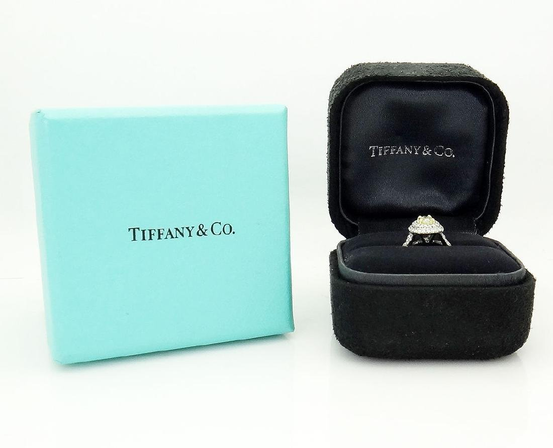 Tiffany & Co Soleste Plat 950 & 18k Yellow Diamond Ring - 6
