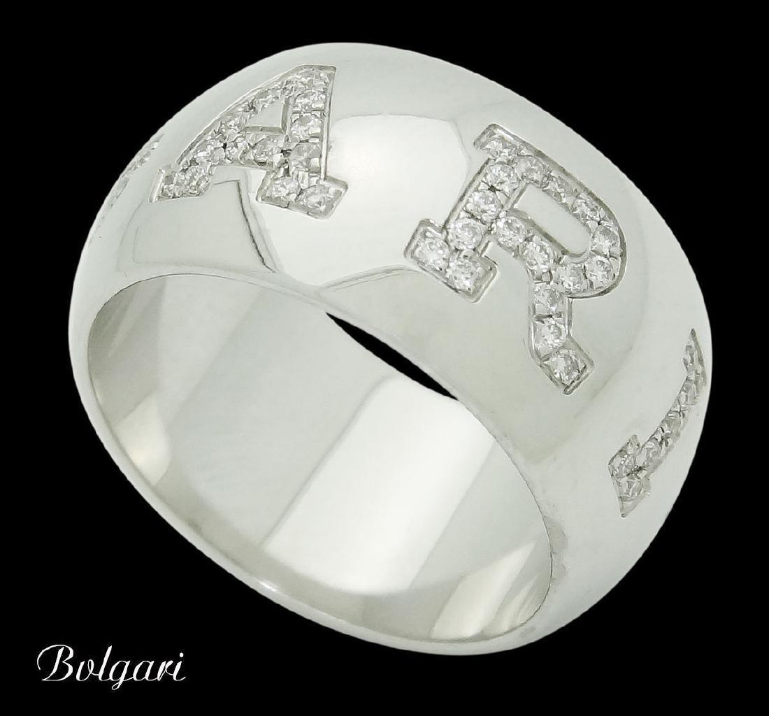 Bvlgari Bulgari 18k Gold & 0.38 Diamond Band Ring