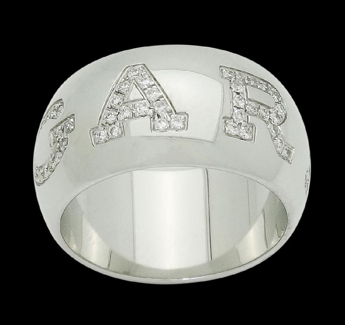 Bvlgari Bulgari 18k Gold & 0.38 Diamond Band Ring - 2