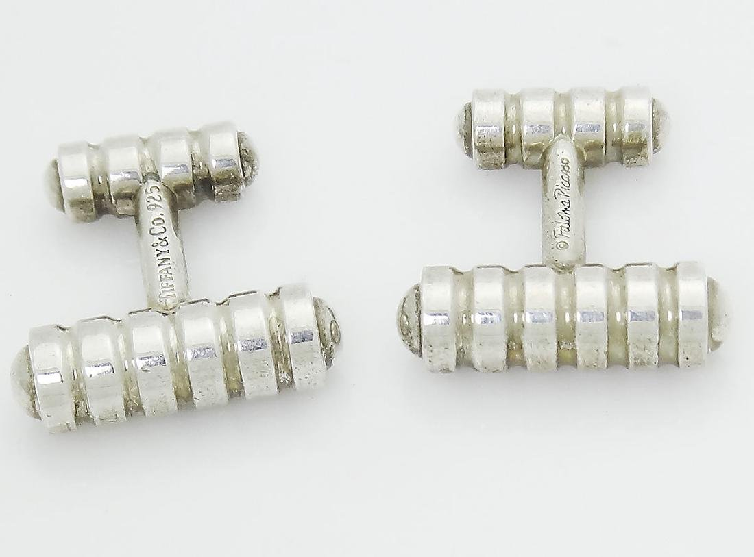 Tiffany & Co 925 Silver Paloma Picasso Groove Cufflinks