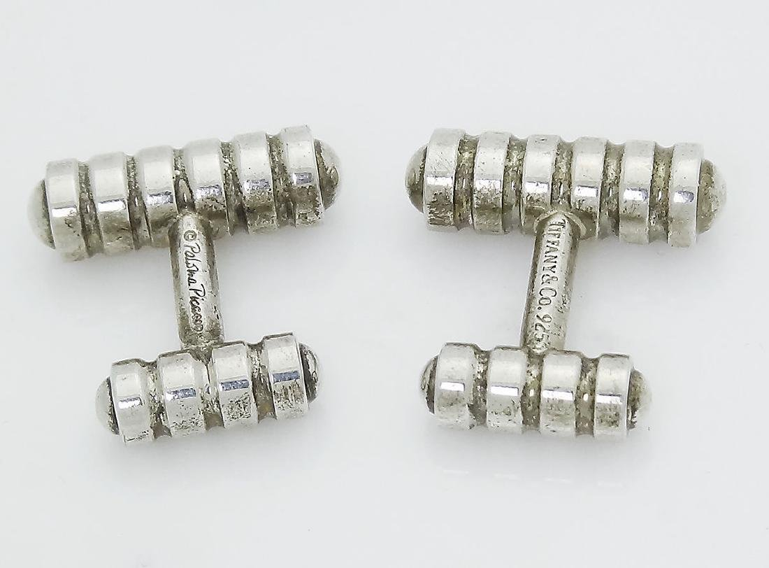 Tiffany & Co 925 Silver Paloma Picasso Groove Cufflinks - 2