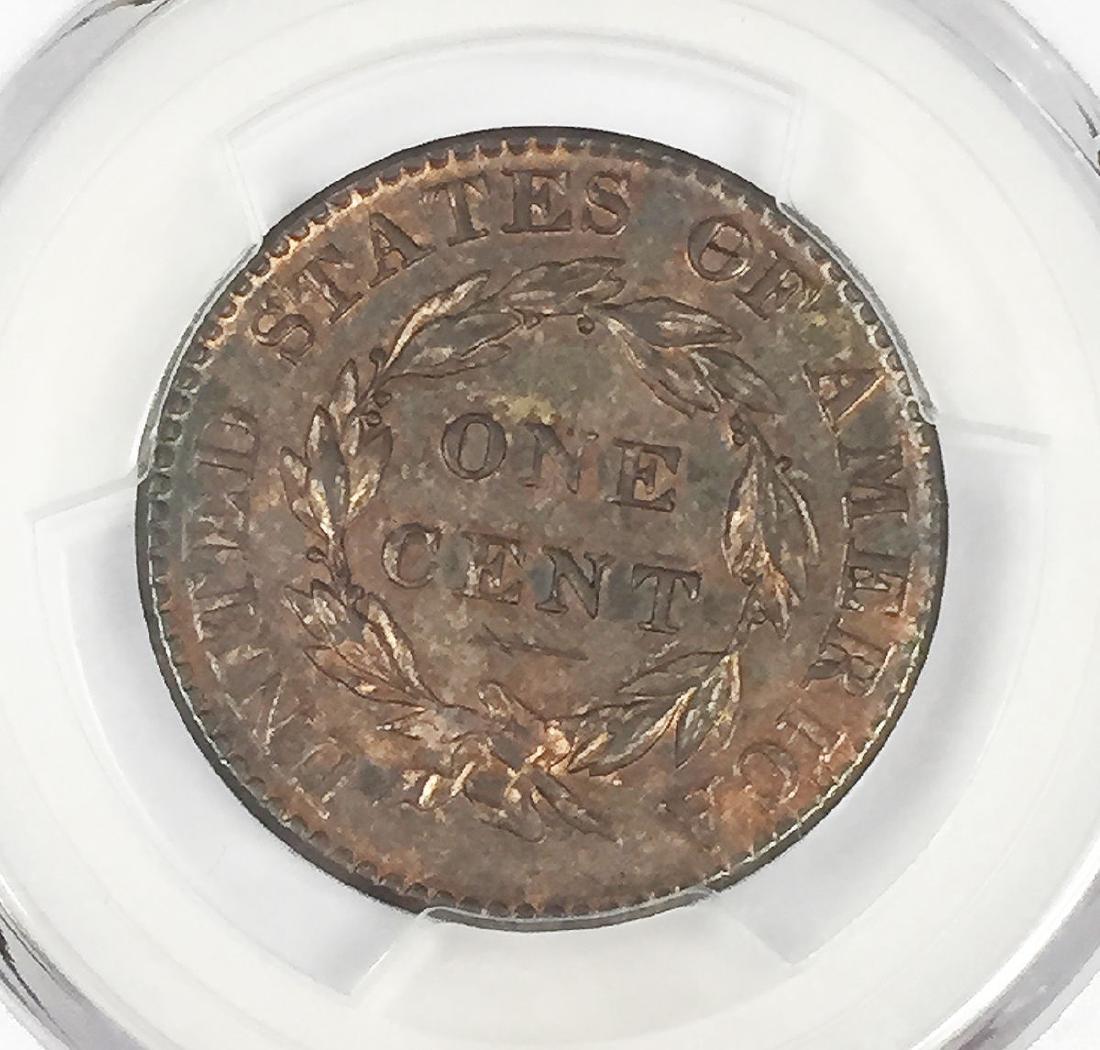 1824 Coronet Head Large Cent 1C Coin PCGS Genuine - 3