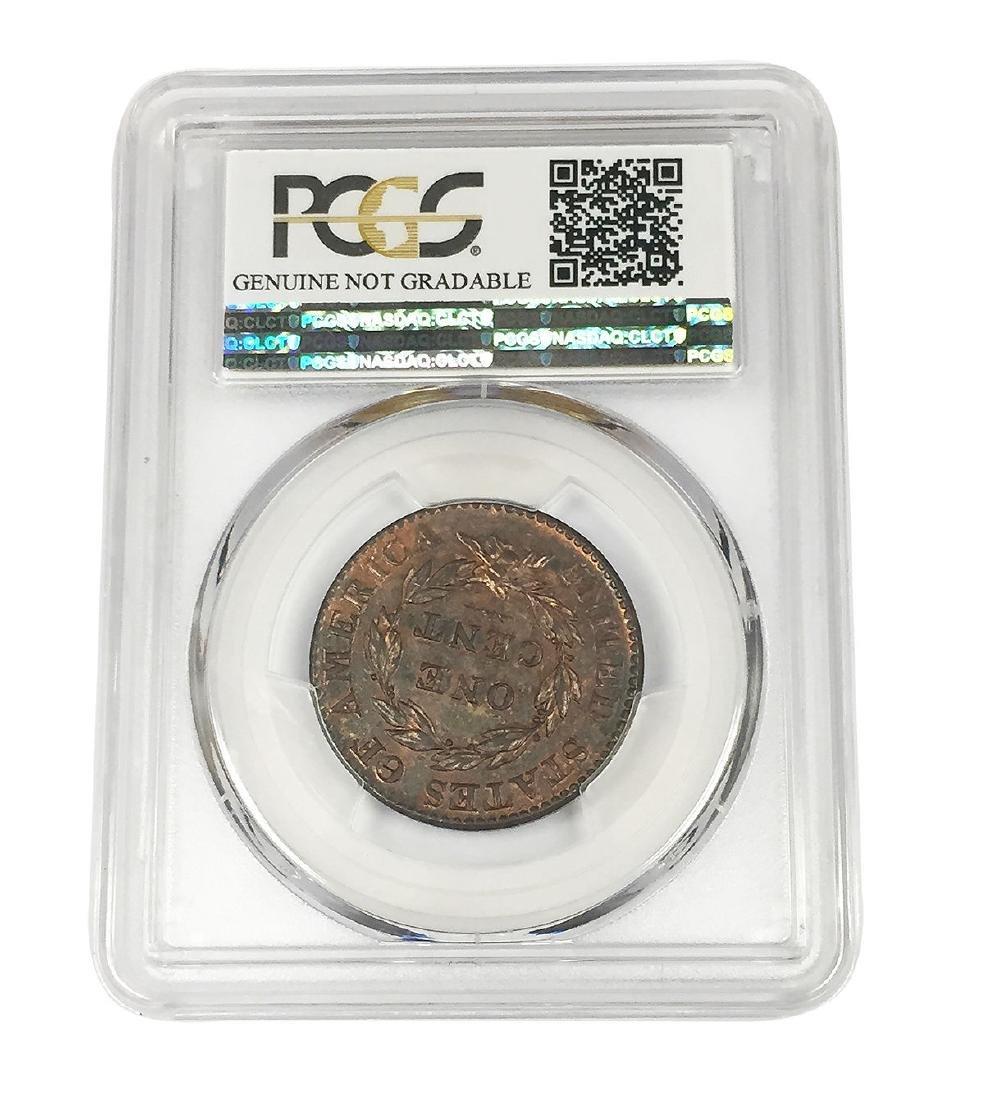 1824 Coronet Head Large Cent 1C Coin PCGS Genuine - 4