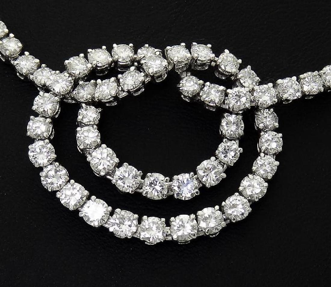 Van Cleef & Arpels Plat 950 20 Carat Diamond Necklace - 9