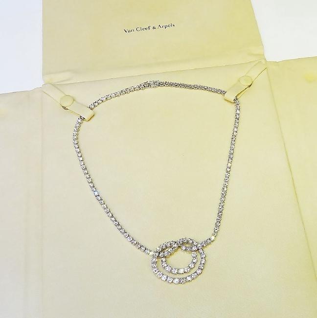 Van Cleef & Arpels Plat 950 20 Carat Diamond Necklace - 2