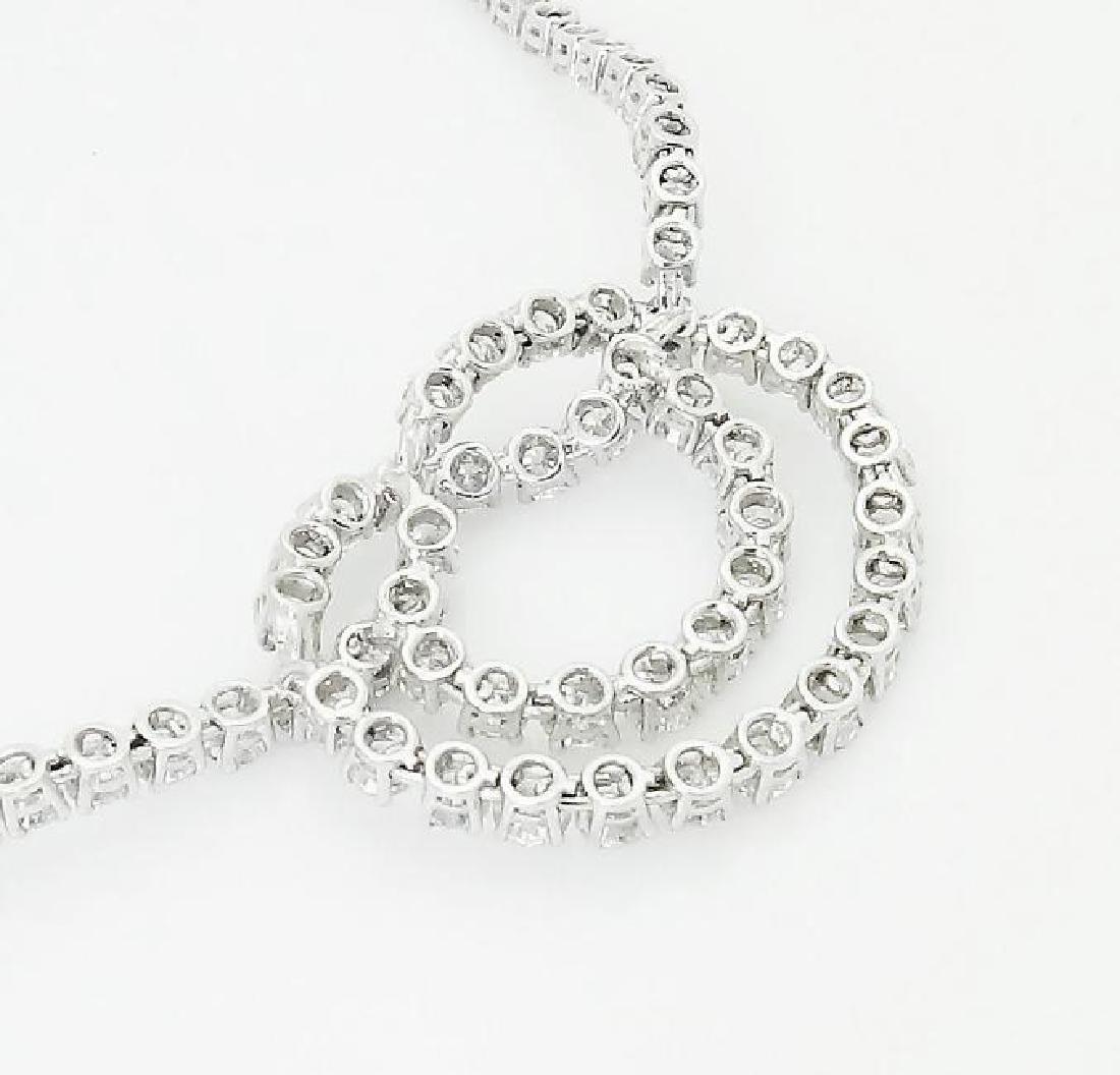 Van Cleef & Arpels Plat 950 20 Carat Diamond Necklace - 3