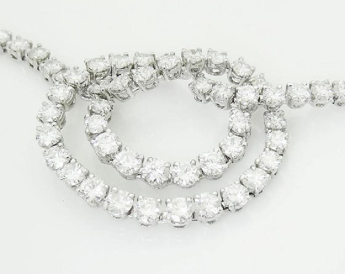 Van Cleef & Arpels Plat 950 20 Carat Diamond Necklace - 5