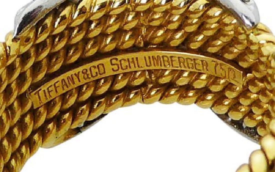 Tiffany & Co Schlumberger X Diamond 6 Row Rope 18k Ring - 3