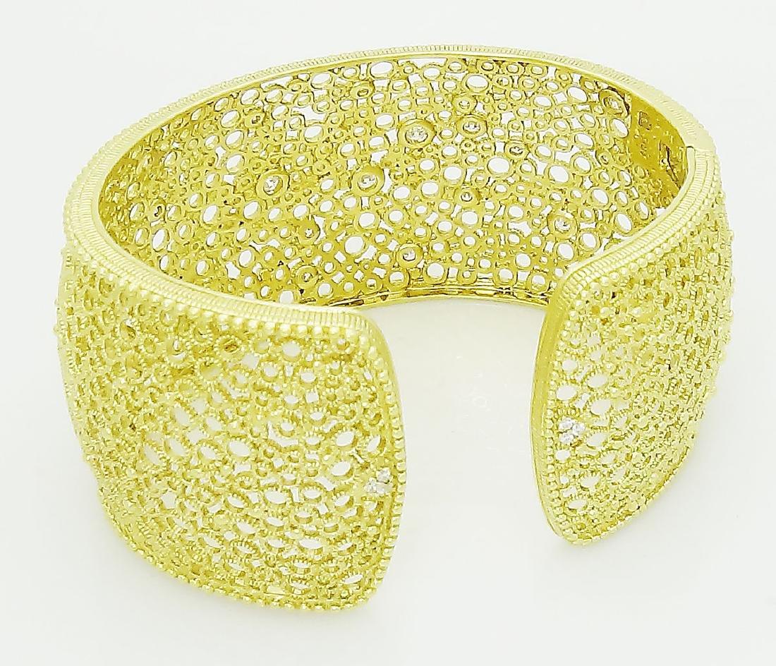 Judith Ripka 18K 1TCW VVS1 F Round Cut Bracelet - 3