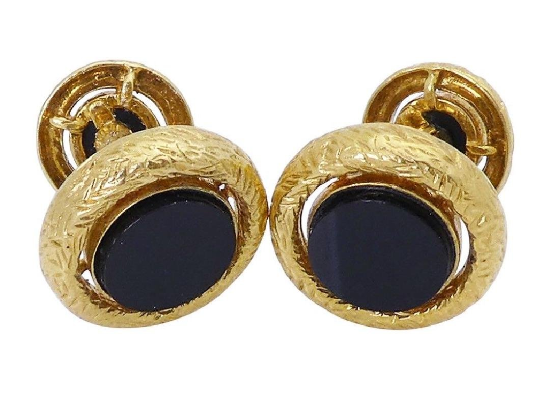 Van Cleef & Arpels 18k Yellow Gold & Black Onyx