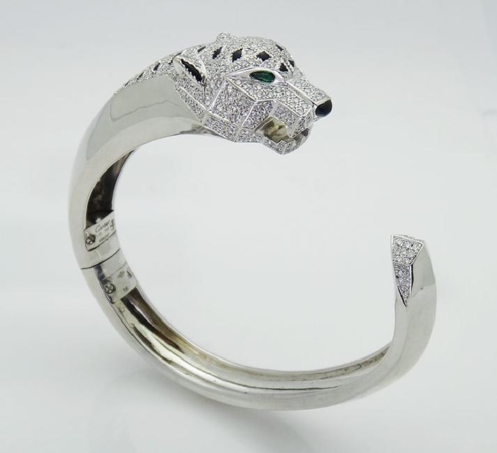 Cartier 18K 4.33 Diamond Panthere de Cartier Bracelet