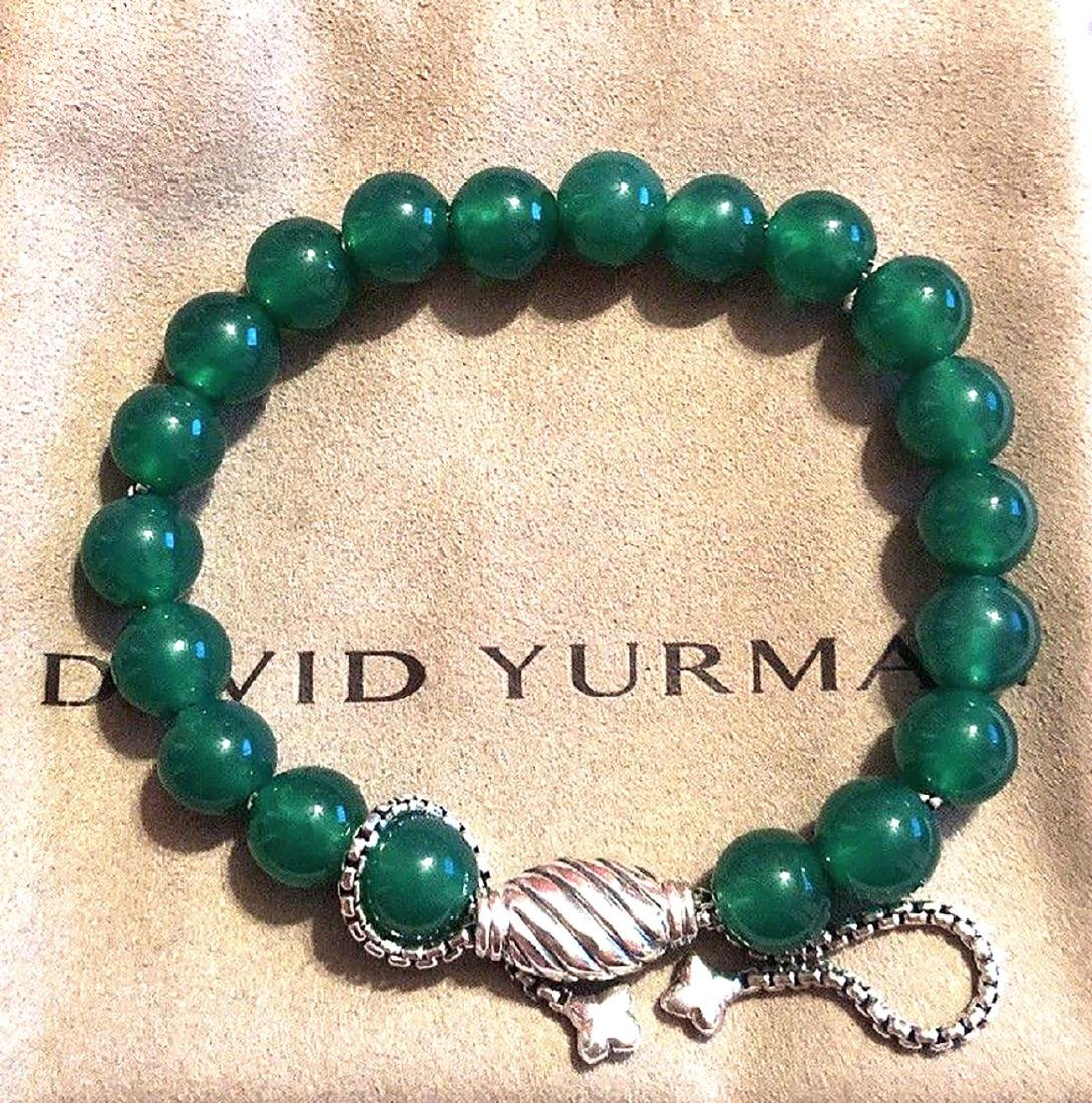 David Yurman Sterling Silver Spiritual Green Onyx 8mm