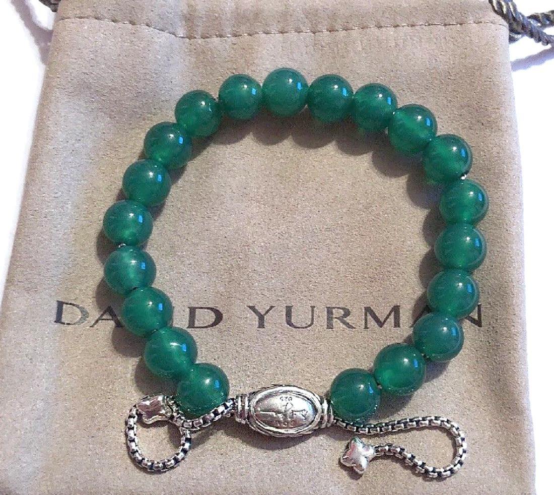 David Yurman Sterling Silver Spiritual Green Onyx 8mm - 2