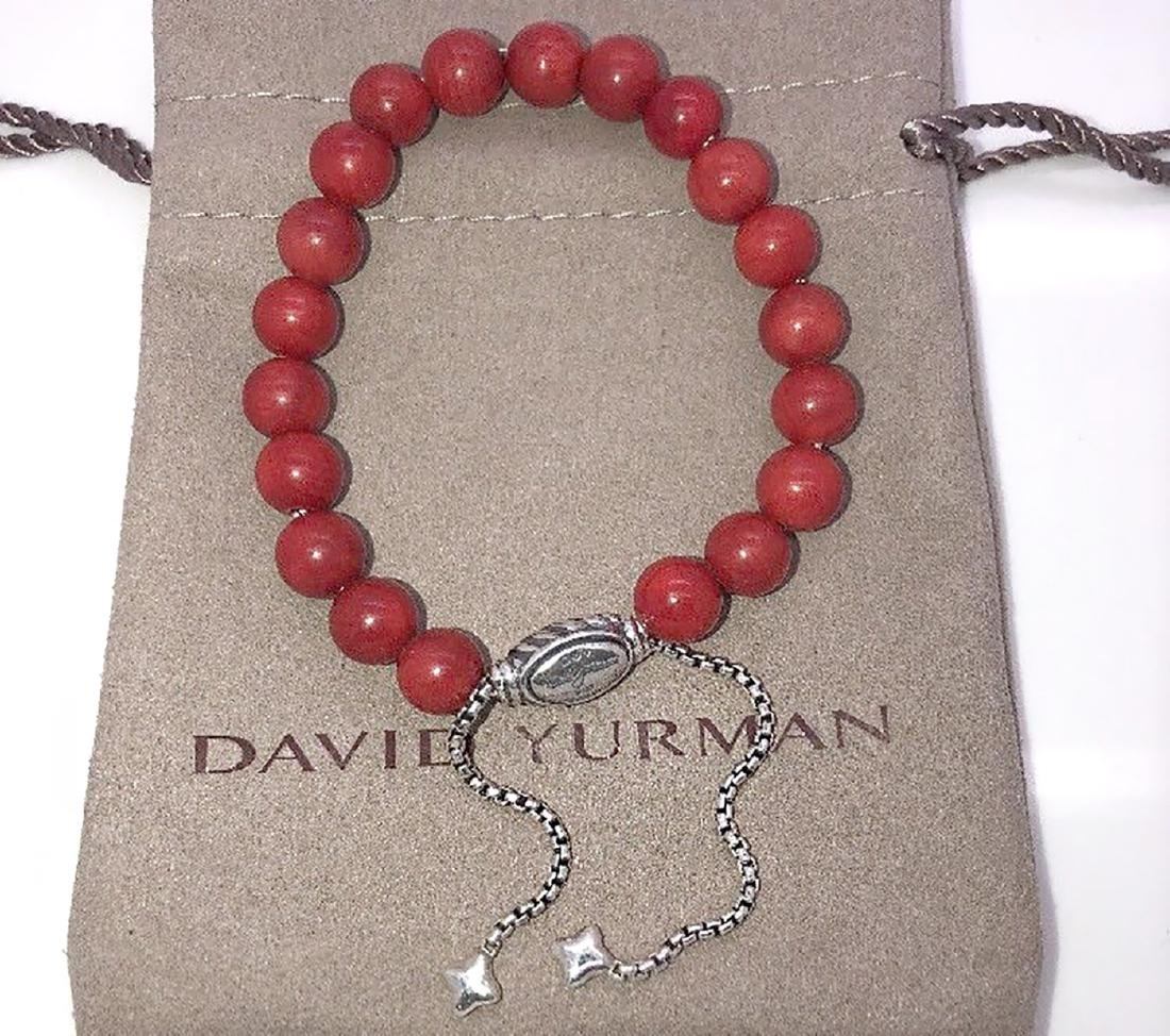 David Yurman Sterling Silver Spiritual Carnelian 8mm