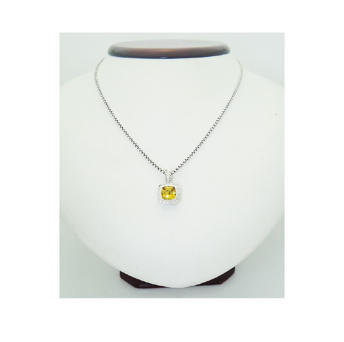 David Yurman 925 Sterling Silver Lemon Citrine Diamond