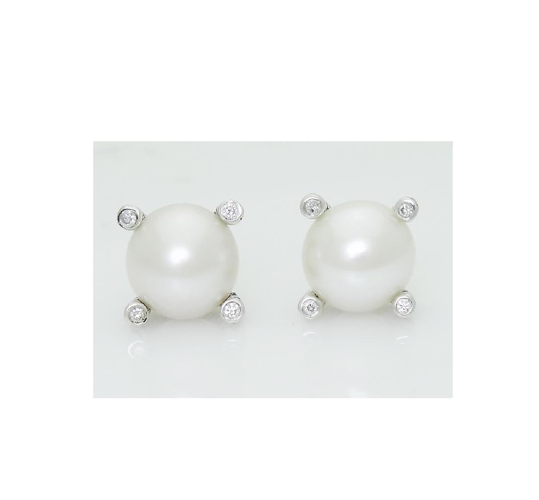DAVID YURMAN Sterling Silver Pearl Earrings with